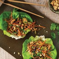 Cashew Chicken Lettuce Wraps by @mytexaslife