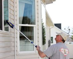 Homemade Streak-Free Window Cleaner! Just spray, wash, spray again and sit back and let Mother Nature take care of the rest!