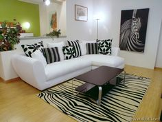 SOFA ZEBRA LIVING ROOM DESIGN