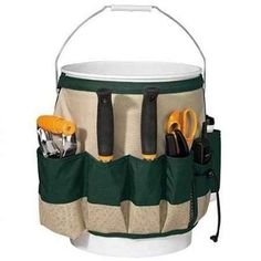 Keep your cleaning supplies in a mobile bucket caddy.
