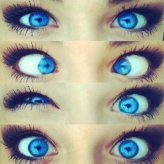 Gorgeous electric blue eyes