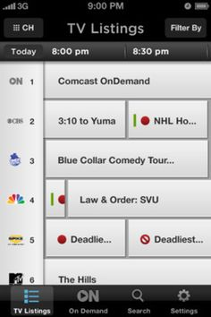 XFINITY TV App #iPhone #buttons #icons #mobile #ui