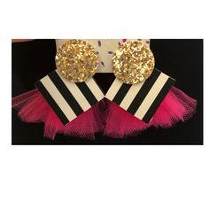 """The Birthday Girl"" Earrings (Medium) — TrueLoStyle.com Girls Earrings, Girl Birthday, Polka Dots, Medium, Outfit, Handmade, Fashion, Outfits, Moda"
