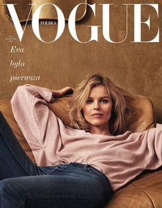 Eva Herzigova covers #Vogue Poland April 2018 by Chris Colls