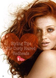 Styling Tips For #Curly Haired #Redheads