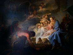 Adoration of the Shepherds by Jean Baptiste Marie Pierre