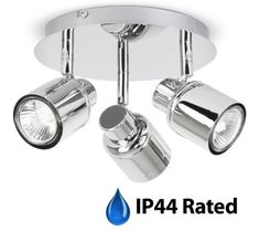 Modern Polished Chrome 3 Way Round Plate Bathroom Ceiling Spotlight - IP44 Rated MiniSun http://www.amazon.co.uk/dp/B00JDKB6CY/ref=cm_sw_r_pi_dp_kAxXub1FVYP8D