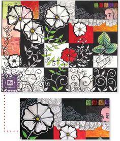 Tangled Flower Collage by Sandy Bartholomew