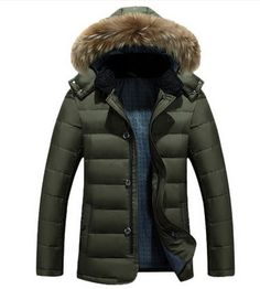 69.00$  Watch now - http://ali9r0.worldwells.pw/go.php?t=32718747655 - Heavy hair white duck down collar men down jacket Young men with thick coat 69.00$
