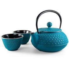Honeycomb Turquoise Tetsubin Tea Set