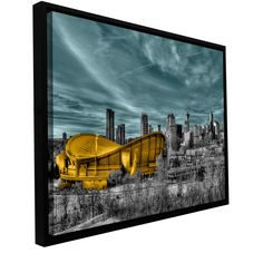 'Calgary' by Revolver Ocelot Framed Graphic Art on Wrapped Canvas