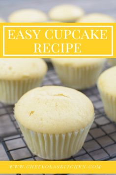 Easy Vanilla Cupcake recipe from scratch – Who doesn't love a homemade light and fluffy Vanilla cupcakes? Especially homemade cupcakes made from scratch? These vanilla cupcakes are super easy to make yet delicious. Cupcake Recipes From Scratch, Easy Cupcake Recipes, Recipe From Scratch, Cookie Recipes, Dessert Recipes, Easy Recipes, Baking Recipes Cupcakes, Delicious Recipes, Tasty