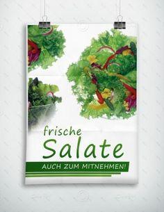 Frische Salate auch zum Mitnehmen - Plakat - P-FP-0067 | Gastronomie | Plakate | Werbedesigns | Despri