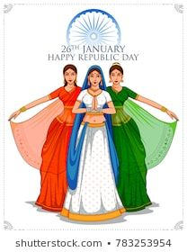 illustration of Lady in Tricolor saree of Indian flag for January Happy Republic Day of India Happy Independence Day Indian, Independence Day Drawing, Independence Day Decoration, Independence Day Images, Flag Drawing, Poster Drawing, Cute Bear Drawings, Art Drawings For Kids, Animal Drawings