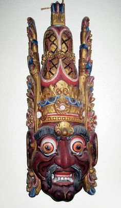Spectacular collector mask from Bali or China