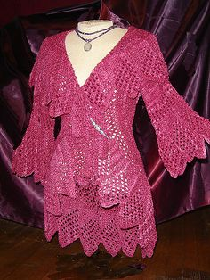 Ravelry: Madeline pattern by Joan McGowan-Michael Crochet Shrug Pattern, Crochet Shirt, Knit Or Crochet, Fashion Over 40, Slow Fashion, Boho Fashion, Knitting Designs, Crochet Designs, Knitting Patterns