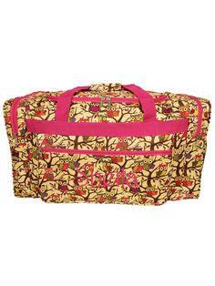 22 Vintage Owl with Pink Trim Duffle Bag #D22-501-P - Wholesale Accessory Market $9.00
