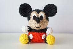 MICKEY Mouse Disney Patrón Amigurumi Bebe Sencillo Fácil DIY PDF Crochet Ganchillo Tutorial