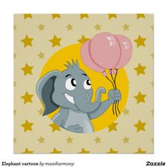 Elephant cartoon perfect poster