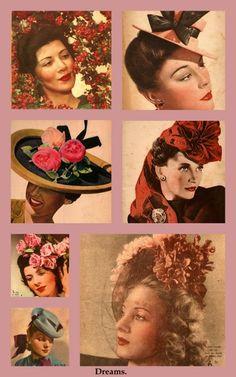 Hats vintage .