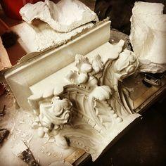 #plaster #casting fresh out of the #mold   #historicalrestoration #gfrg #reinforcedplaster #historicaculpture #sculpture