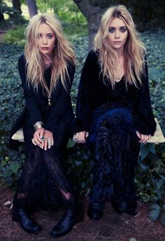 Mary-Kate Olsen and Ashley Olsen photographed by Steven Pan