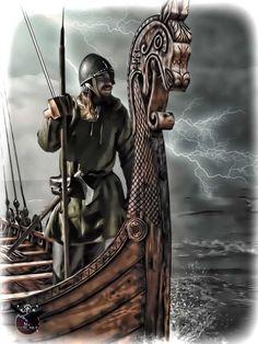 Viking sailing into unknown by thecasperart on DeviantArt – Norse Mythology-Vikings-Tattoo Viking Ship Tattoo, Norse Tattoo, Viking Tattoos, Art Viking, Viking Life, Viking Warrior, Viking Facts, Les Runes, Norwegian Vikings