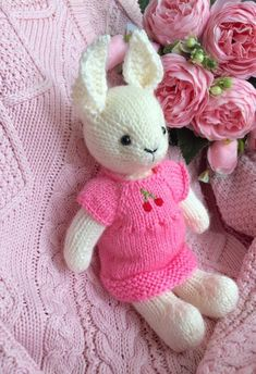 Bunny in a Somebunny Loves You, Bunny Rabbits, Cotton Thread, Wool, Knitting, Trending Outfits, Unique Jewelry, Handmade Gifts, Etsy