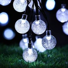 Solar Outdoor String Lights, easyDecor Ball 30 LED 8 Modes 21ft White Decorative Christmas Fairy Globe Light Strings for Party, Indoor Decor, Wedding Decorations, Patio, Garden, Holiday, Home, tree. |  http://landscapeandlighting.net