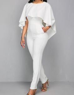 rompers womens jumpsuit body bodies woman white jumpsuit for women white romper europe and the united states jumpsuits rompers Cape Jumpsuit, Bodycon Jumpsuit, Jumpsuit Outfit, Casual Jumpsuit, Floral Jumpsuit, Xl Mode, Mode Shop, Rompers Women, Jumpsuits For Women