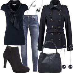 navy sensation #fashion #mode #look #style #trend #outfit #sexy #luxury #stylaholic