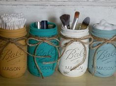 Mason Jars For The Bathroom