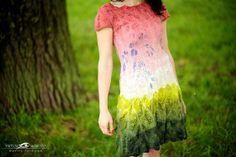 Forest fairy  nuno felted dress by aureliaLT on Etsy, $465.00