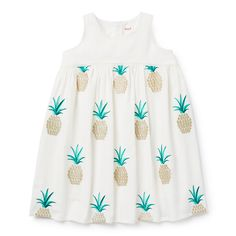 Pineapple Embroidered Dress from Seed Heritage $AUD39.95  (On Sale)