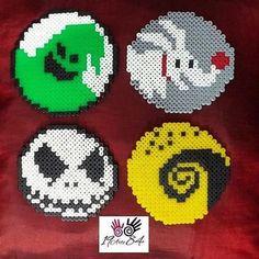 Nightmare Before Christmas coaster set perler beads by  19arte84