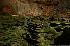Located in the Quang Binh province in Vietnam, the Son Doong Cave is the world's largest cave. The biggest section of the cave is more than 650 feet wide, almost 500 feet high, and approximately 5.5 miles long.