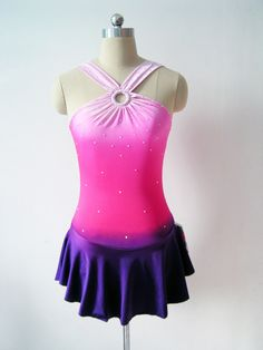Custom Figure Skating Competition Dress -- 'Lola'. $84.00, via Etsy.