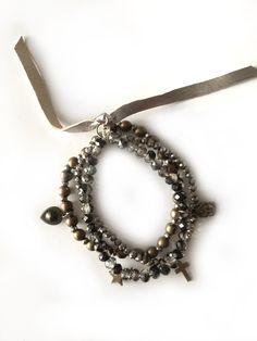 Redcor Armband, mit Liebe von Hand gefertigt! - Stern, Buddha, Kreuz, Perlen