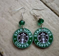 these are the best starbucks earings I Love Coffee, Best Coffee, My Coffee, Coffee Shop, Starbucks Coffee, Starbucks Drinks, Starbucks Crafts, Just In Case, Sparkle