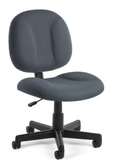"""OFM 105-801 """"Superchair"""" Task Chair with Gray Fabric  High-density foam seat and pivot back  Full upholstered back  Extra wide seat  Gas lift seat height adjustment  25"""" 5-star base"""