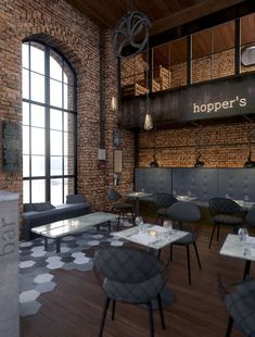 Hoppers bar by John Komnos, via Behance