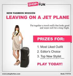 New Mission: Leaving on a Jet Plane. Create a jetsetting #outfit and you could win a gift card! #fashion #contest #travel