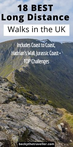 18 BEST Long Distance Walks in the UK - Plan your next long distance walking challenge right here. Here are the top UK hikes for a long distance hikers. Includes Coast to Coast trail, Hadrian's Wall and other great long walks in the UK Thru Hiking, Hiking Tips, Highlands, Sightseeing London, Cotswold Way, Scotland Hiking, Walking Challenge, Pembrokeshire Coast, Uk Destinations
