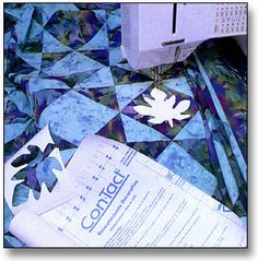 Quilting with contact paper