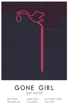 """""""What have we done to each other? What will we do?"""" Minimalist poster movie inspired in 'Gone Girl' a David Fincher movie."""