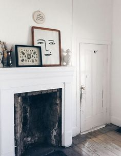 mantle vignette with art and accessories / sfgirlbybay
