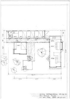 SAMLING RUNDT SENTRUM: De fire soverommene ligger på rekke, og alle har sin egen utgang til atriet. Next At Home, Designs To Draw, Future House, Tiny House, Architecture Design, Floor Plans, Diagram, House Design, How To Plan