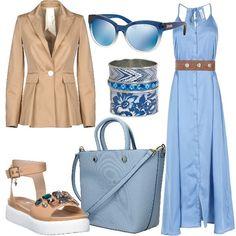 fb1cd3518fee Di mare e di azzurro  outfit donna Ethnic per tutti i giorni