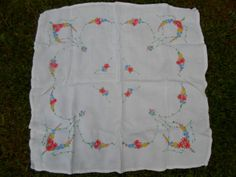 Vintage White Bridge Tablecloth Colorful by KimsKreations17, $19.99