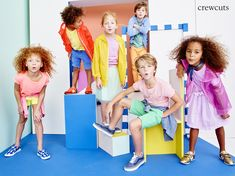 These colorful crewcuts styles= the building blocks of an awesome Spring wardrobe. Teen Models, Child Models, Fashion Studio, Girl Fashion, Kids Studio, Kids Fashion Photography, Building For Kids, Girls Wardrobe, Tween Girls